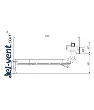 Suvirinimo dujų nutraukimo sistema SDNS-055 ≤1000 m³/h - brėžinys Nr.2