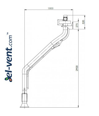 Welding fume extraction system SDNS-055 ≤1000 m³/h - drawing No.4