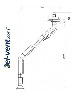 Suvirinimo dujų nutraukimo sistema SDNS-055 ≤1000 m³/h - brėžinys Nr.4