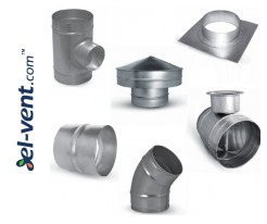 Duct fittings without rubber sealing