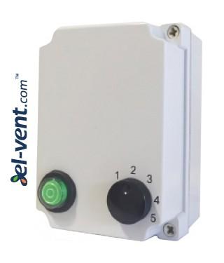 Transformatoriniai ventiliatorių greičio reguliatoriai RVB, IP54, 230 V, 0.6-14.0 A, 5 pakopų